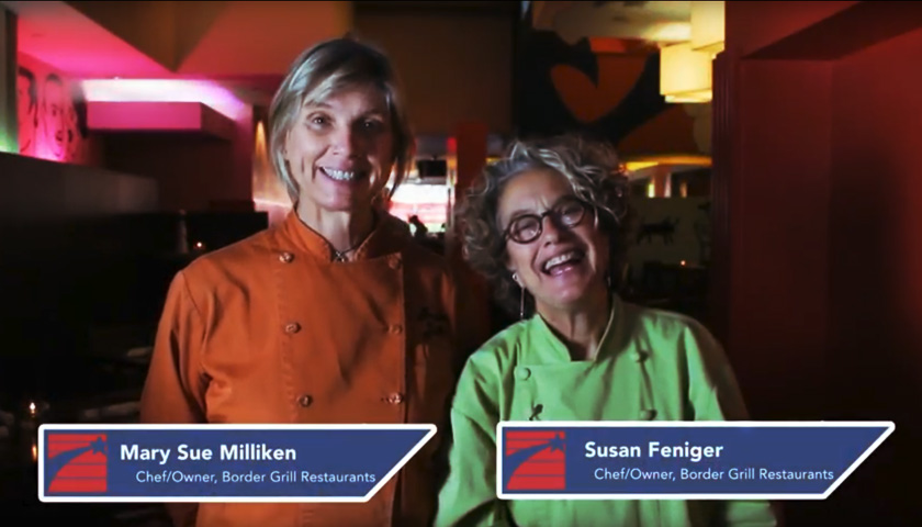 Chefs Mary Sue Millikenn and Susan Feniger