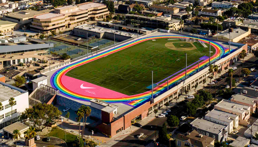 The new BETRUE rainbow track at LACC