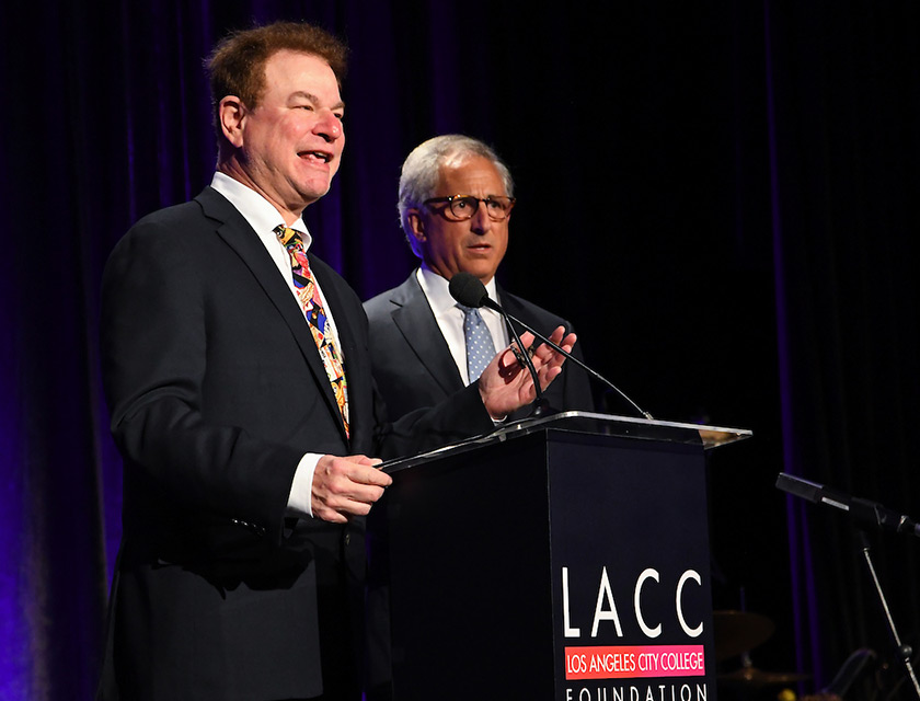 Comedian and host Robert Wuhl, and LACC Foundation Executive Director Robert Schwartz