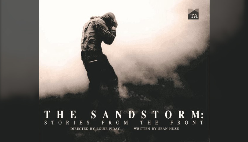 Poster for the play The Sandstorm