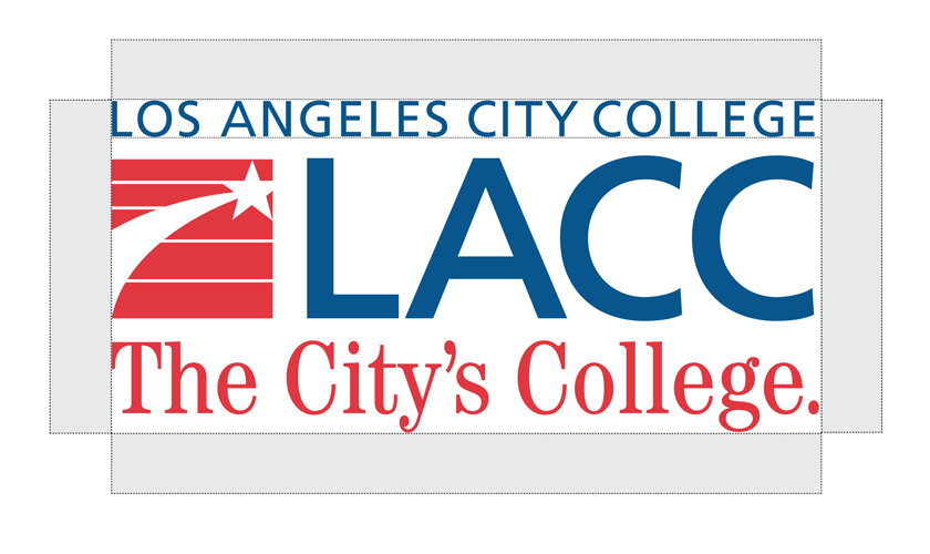 Example of clear white space around the LACC logo