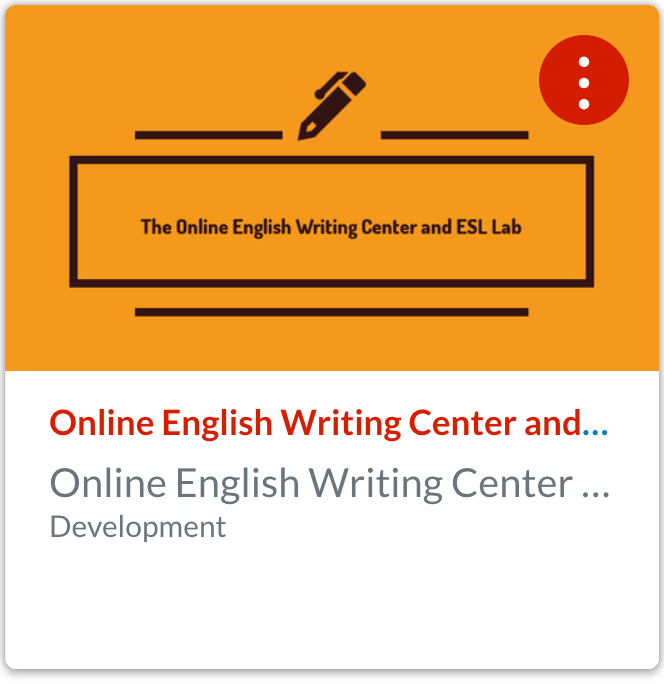 Join the Online English Writing Center and ESL Lab