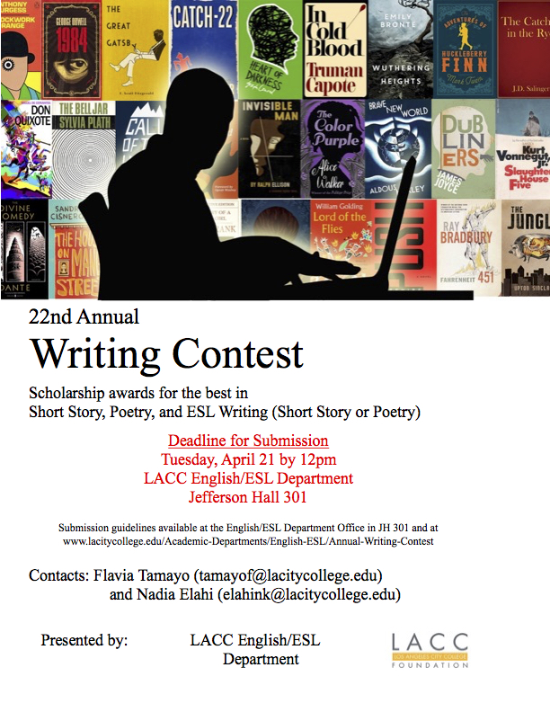 The 2020 Writing Contest Flyer, click to download the PDF