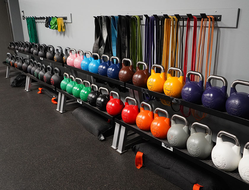 Kettle bells and elastic bands