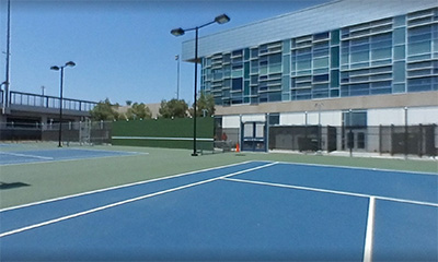 The LACC tennis courts