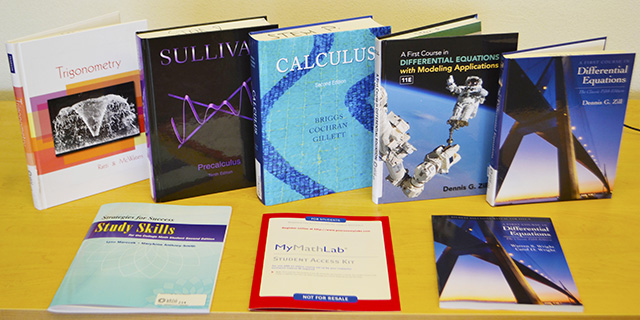 Math Texbooks for Loan