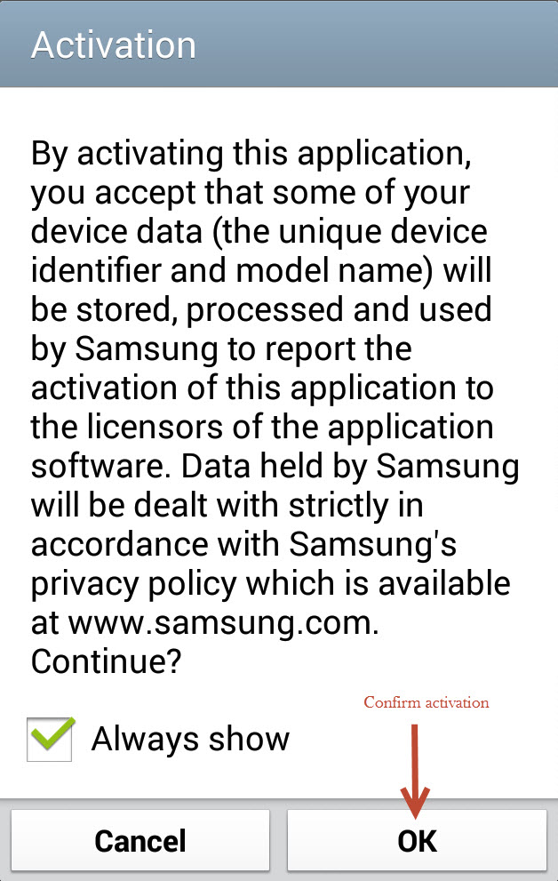 Privacy Policy agreement