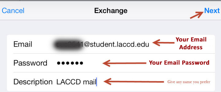 Fill out the form using your Student Email credentials