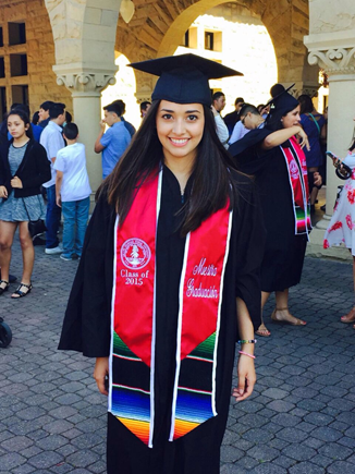 Maggie graduating from Stanford