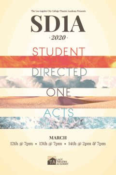 Poster for the 2020 Student Directed One Acts