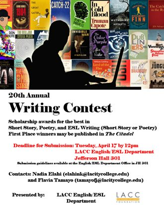 The 2018 Writing Contest Flyer, click to download the PDF